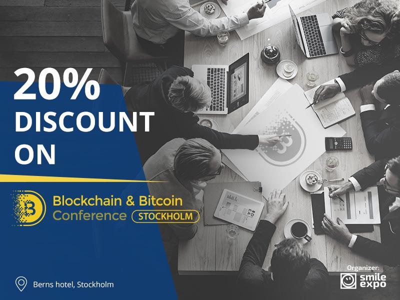 20% summer discount on Sweden's major blockchain conference