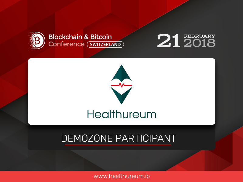 A medical blockchain-based service Healthureum to be presented at the Blockchain & Bitcoin Conference Switzerland exhibition area