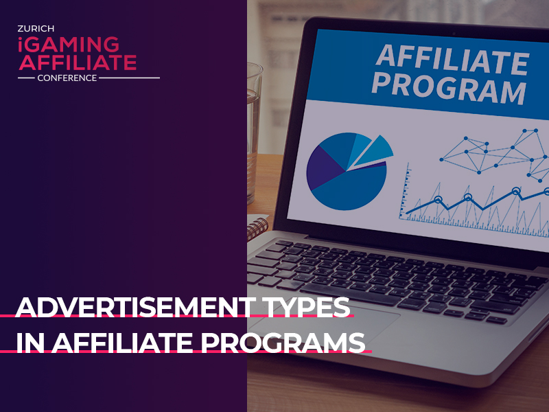 Advertising tools of affiliate programs: main ad types