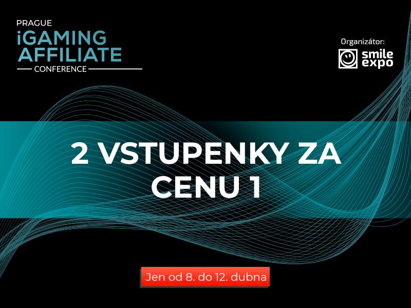 Akční nabídka Prague iGaming Affiliate Conference: druhá vstupenka na konferenci zdarma