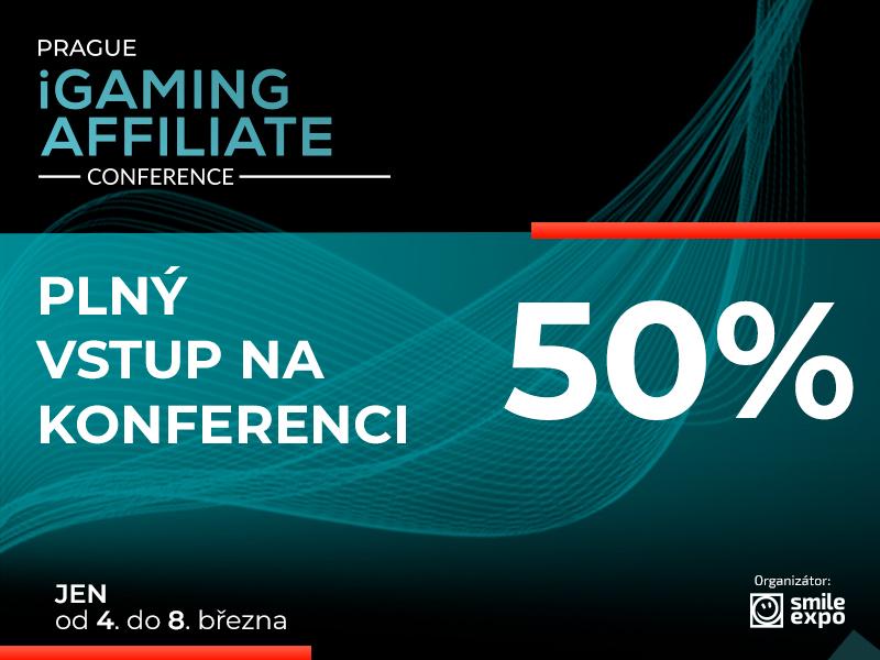 Akční nabídka! Vstupenky na Prague iGaming Affiliate Conference s 50% slevou