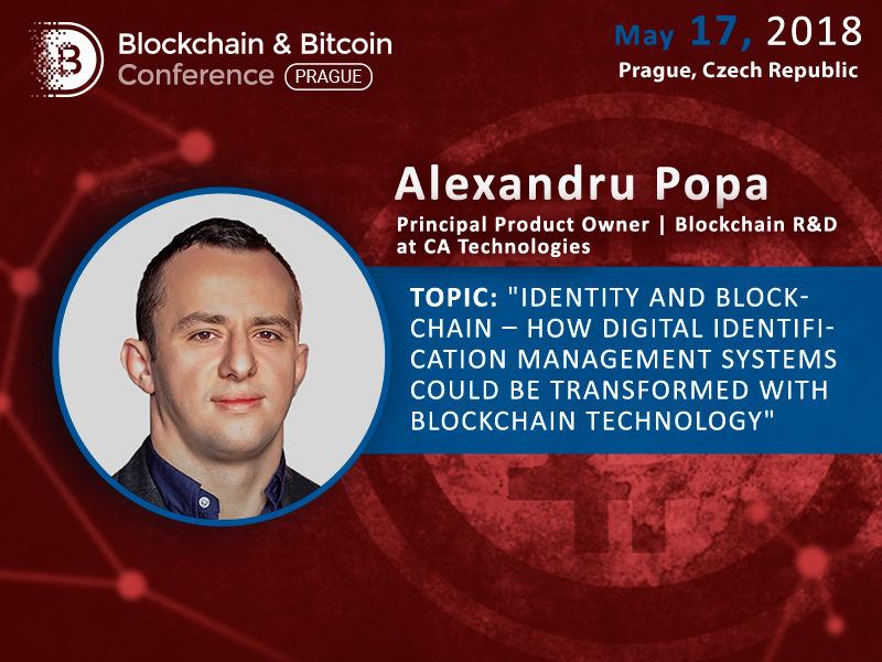 Alex Popa at Blockchain & Bitcoin Conference Prague: How digital identification management systems could be transformed with blockchain technology