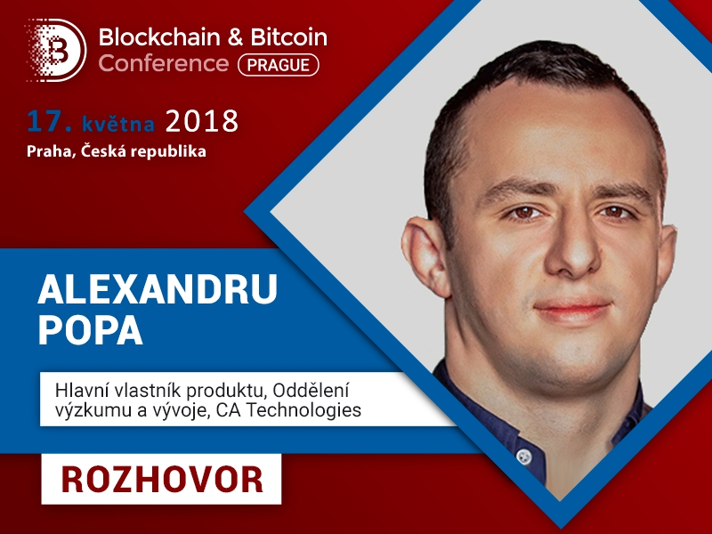 Alexandru Popa, CA Technologies: Praha je ráj pro kryptoměnové investory