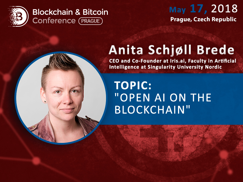Anita Schjøll Brede at Iris.ai to dedicate a presentation to AI in blockchain