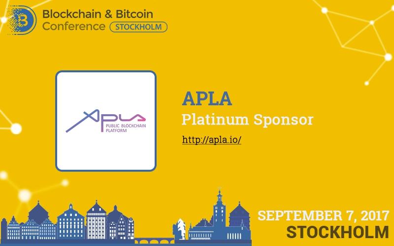 APLA blockchain platform to become Platinum Sponsor of Blockchain & Bitcoin Conference Stockholm