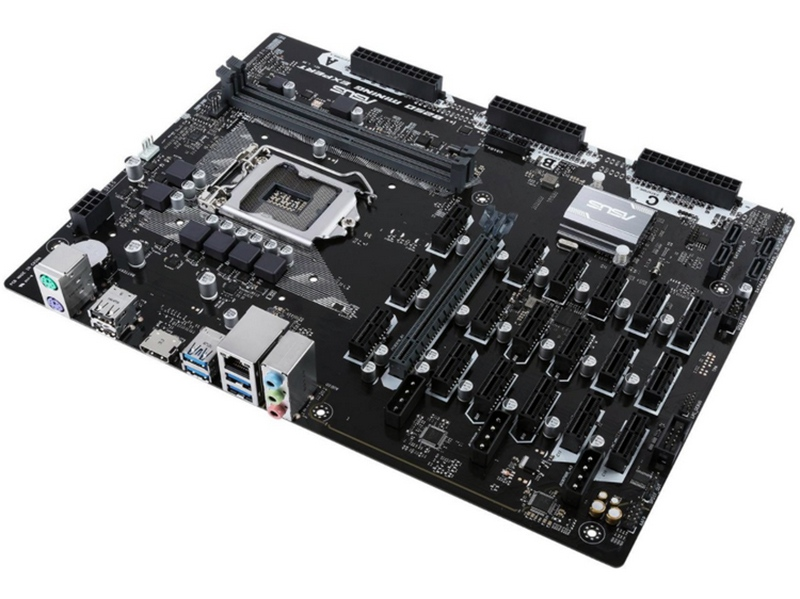 ASUS develops motherboard with 19 video card slots for mining