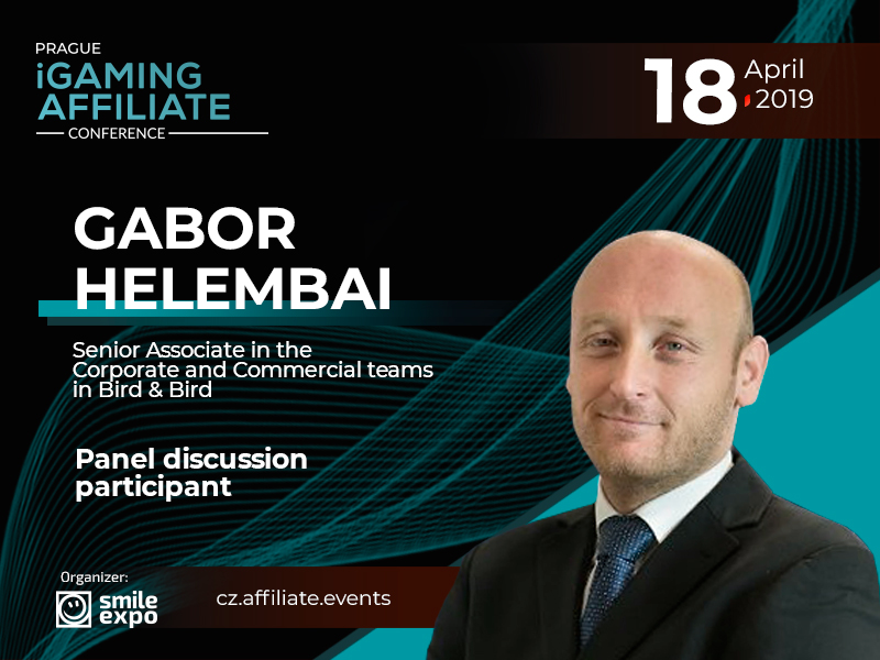 Attorney-at-law Gabor Helembai  to participate in discussion on gambling regulation in Europe