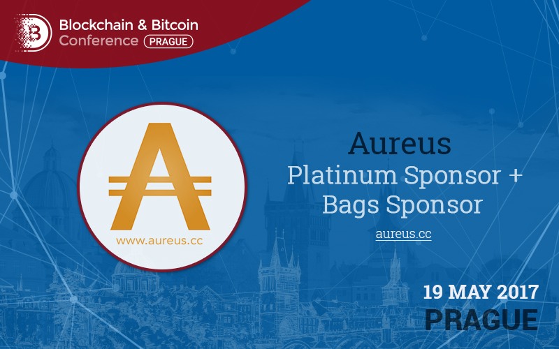 Aureus: sponzor Blockchain & Bitcoin Conference Prague