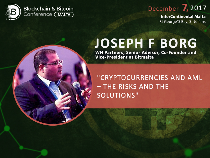 Bitmalta Vice-President will deliver a presentation on AML and cryptocurrency at Blockchain & Bitcoin Conference Malta