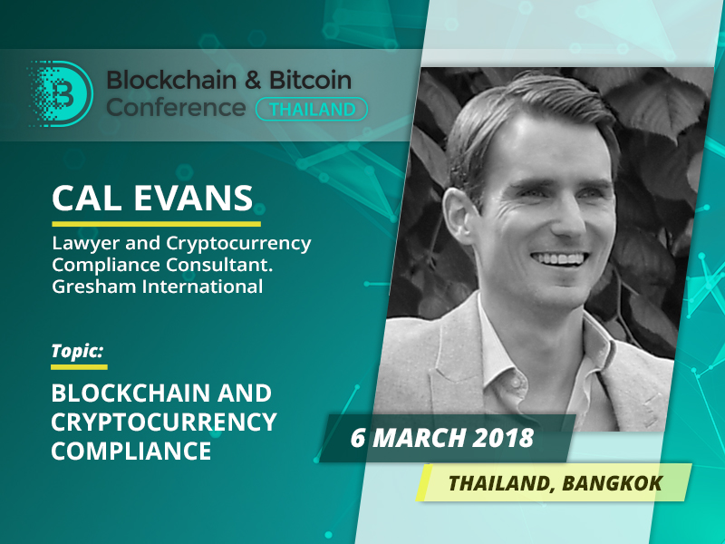 Blockchain and Cryptocurrency Compliance: presentation by Cal Evans, world-renowned lawyer