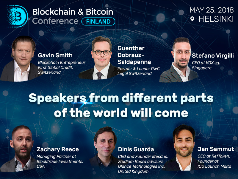 Blockchain & Bitcoin Conference in Finland will bring together the world's leading experts
