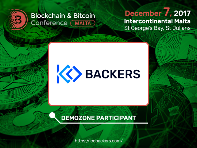 Blockchain & Bitcoin Conference Malta exhibitor is ICOBackers