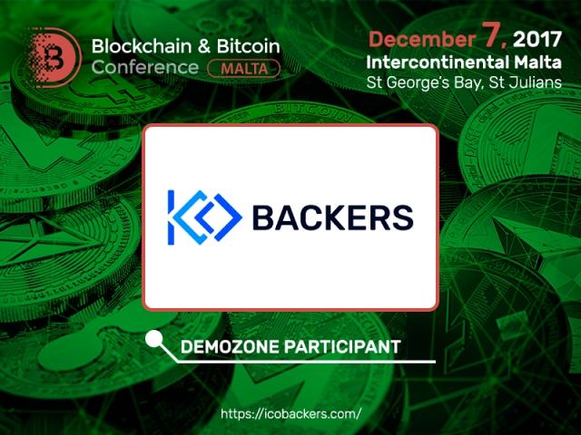 Blockchain & Bitcoin Conference Malta exhibitor is ICOBackers