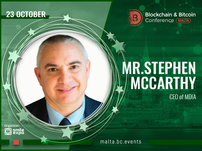 Blockchain & Bitcoin Conference Malta to Be Opened by Country's Authority: Welcoming Speech from CEO of MDIA Stephen McCarthy