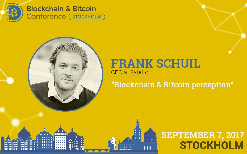 Blockchain & Bitcoin perception: presentation of СЕО Safello Frank Schuil