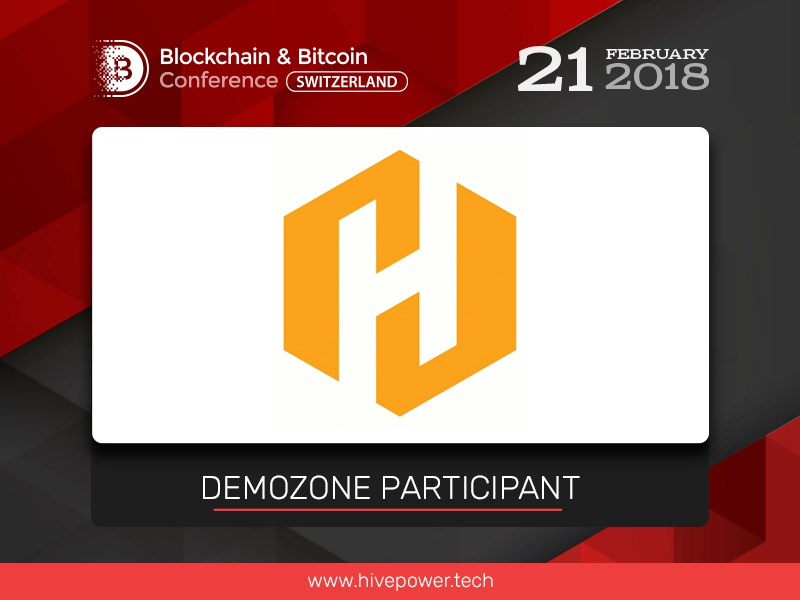 Blockchain for power industry: Hive Power to present its project in exhibition area at Blockchain & Bitcoin Conference Switzerland