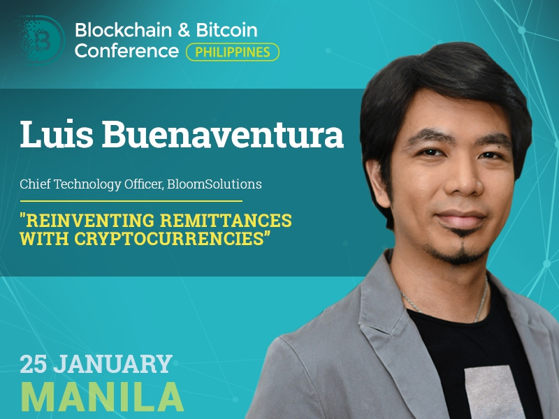 Blockchain for remittance businesses. Report of entrepreneur and author Luis Buenaventura at Blockchain & Bitcoin Conference