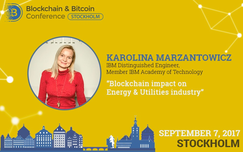 Blockchain in energetics and utilities industry: a presentation by a leading IBM engineer Karolina Marzantowicz