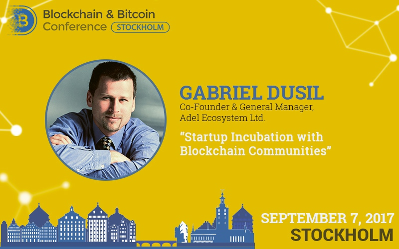 Blockchain incubation of startups. Presentation by Adel General Manager at the Blockchain & Bitcoin Conference