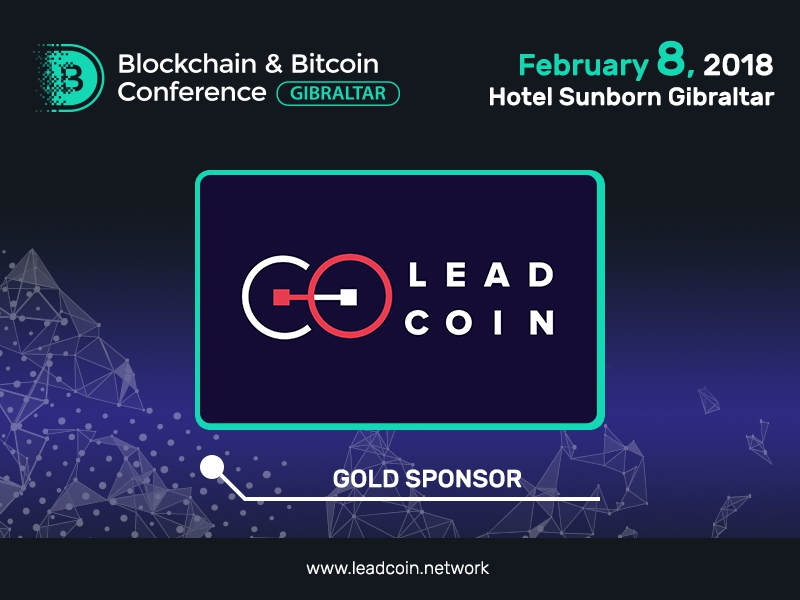 Blockchain platform LeadCoin – Gold Sponsor of Blockchain & Bitcoin Conference Gibraltar