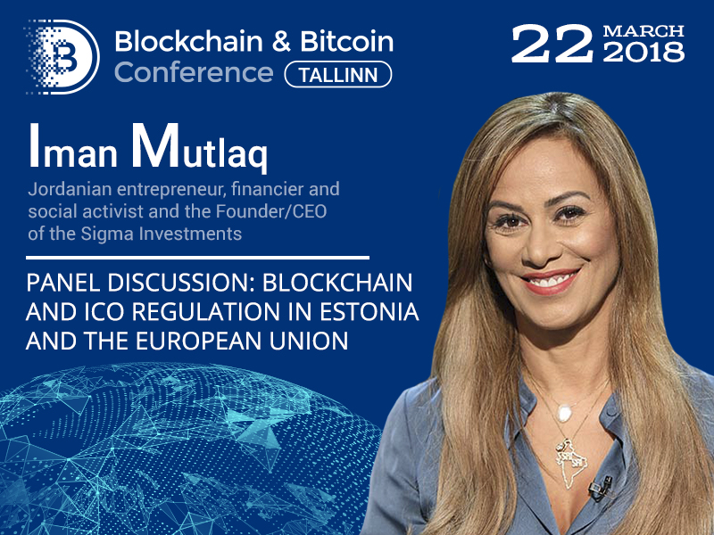 Blockchain regulation in Estonia and worldwide: panel discussion participant – Jordanian entrepreneur Iman Mutlaq