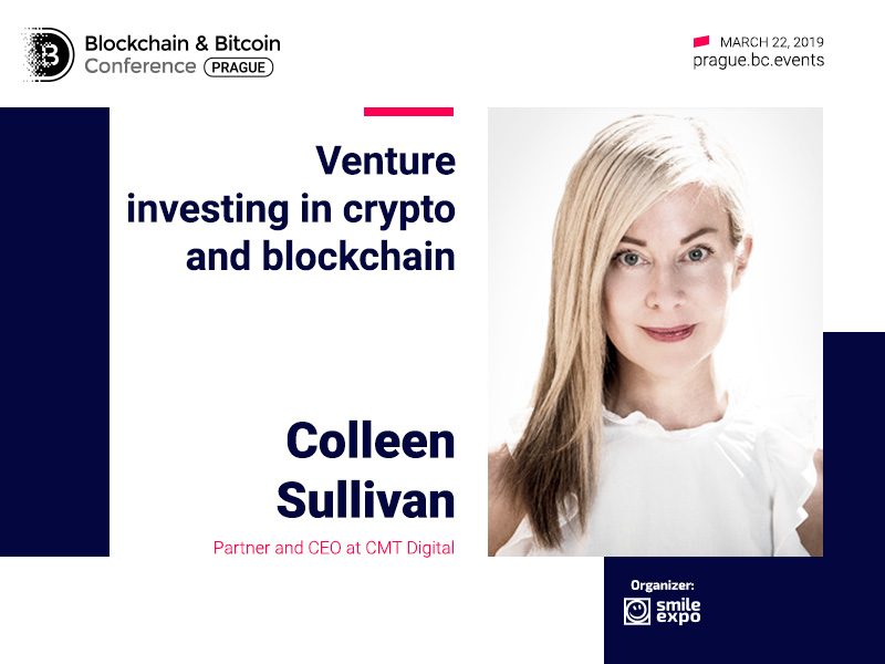 CEO of CMT Digital Colleen Sullivan will present a report on venture investments in cryptocurrencies and blockchain