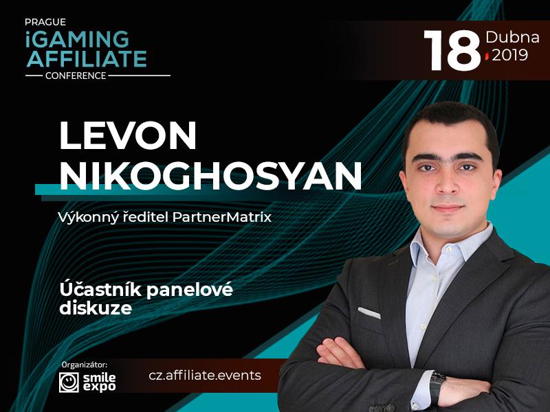 CEO PartnerMatrix Levon Nikoghosyan se zúčastní diskuze o affiliate marketingu v hazardním průmyslu