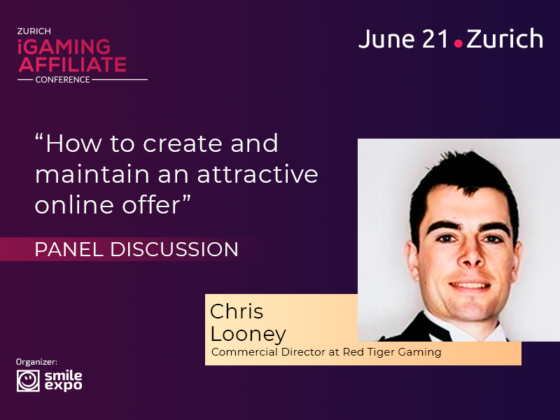 Chris Looney, Representative of Red Tiger Gaming, to Participate in Discussion at Zurich iGaming Affiliate Conference