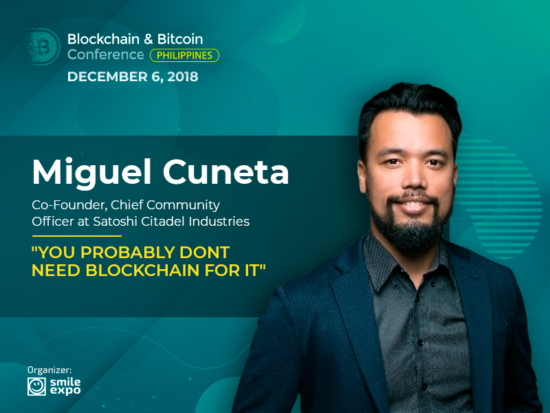 Co-Founder and CCO at Satoshi Citadel Industries Miguel Cuneta: When DLT Is Not Needed