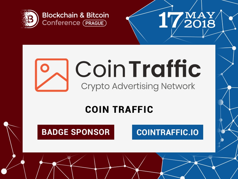 CoinTraffic Media Agency: Sponsor of Blockchain & Bitcoin Conference Prague