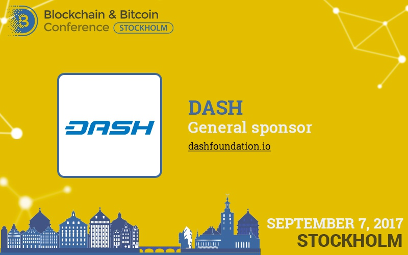 Dash: general sponsor and exhibitor of Blockchain & Bitcoin Conference Stockholm