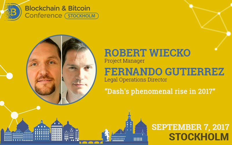 Dash to present its revolutionary product at Blockchain & Bitcoin Conference Stockholm