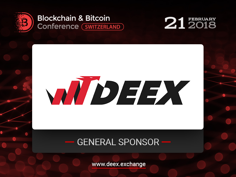 DEEX Exchange – General Sponsor of our conference