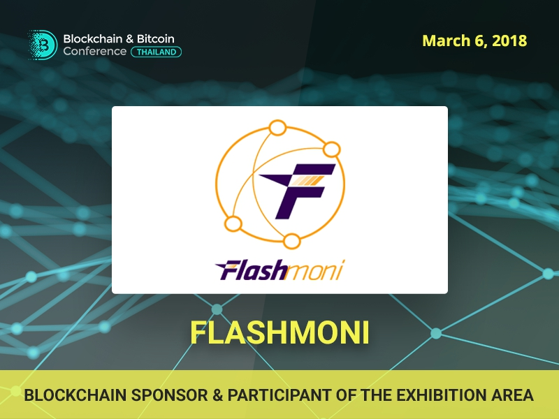 Developer of a biometric ATM Flashmoni is a participant of the exhibition area and sponsor of Blockchain & Bitcoin Conference Thailand