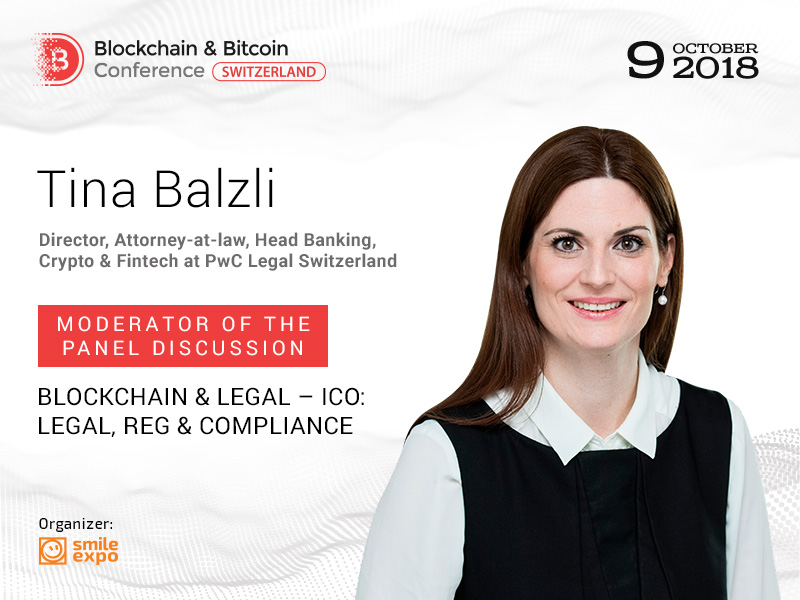 Director at PwC Legal Switzerland Tina Balzli: Legal Sphere of Blockchain
