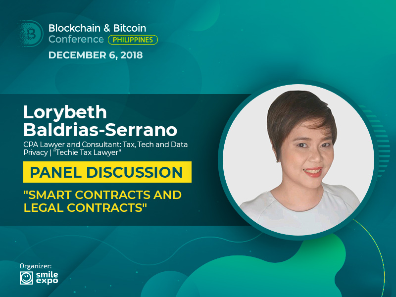 Discussion of Crypto Contracts: Partner at IPLA Lorybeth Baldrias-Serrano Will Become a Participant