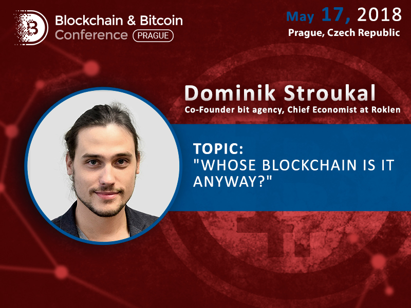 Economist Dominik Stroukal to dwell on understanding of blockchain tech and cryptocurrencies