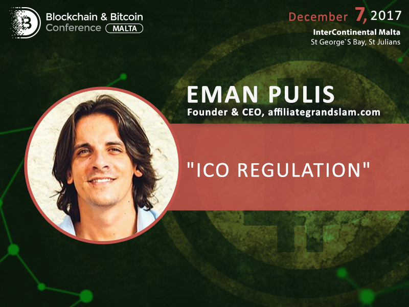 Eman Pulis, founder of major gambling summit, to speak at Blockchain & Bitcoin Conference Malta