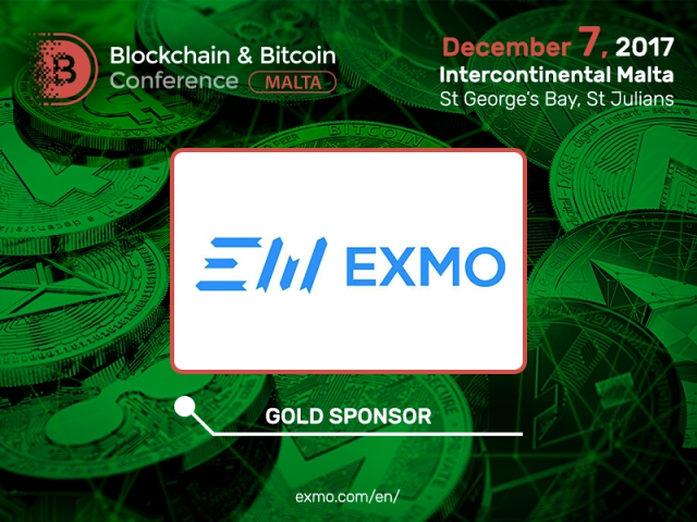 EXMO cryptocurrency exchange to be Gold Sponsor of Blockchain & Bitcoin Conference Malta