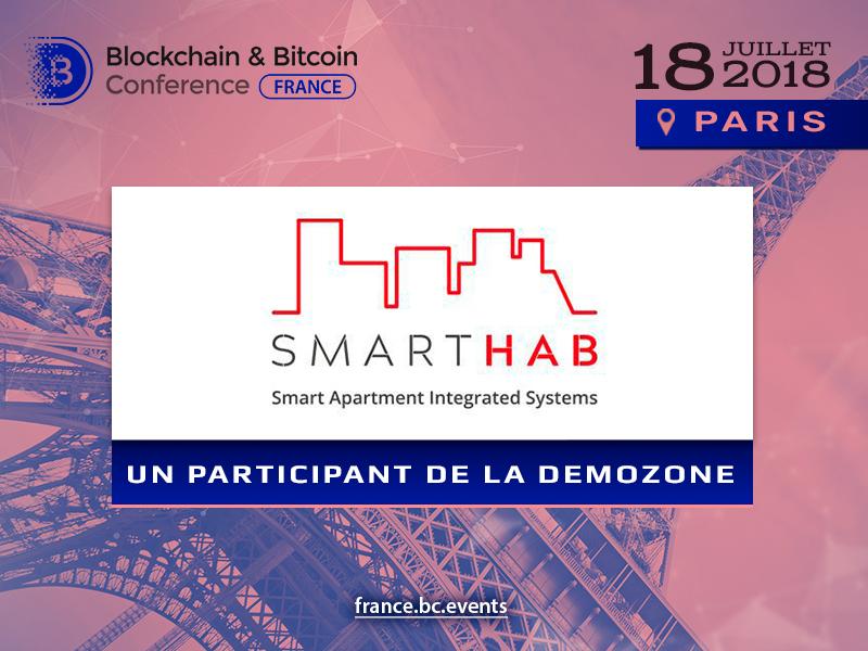 Faites connaissance de la plate-forme pour IoT SmartHab lors de la Blockchain & Bitcoin Conference France