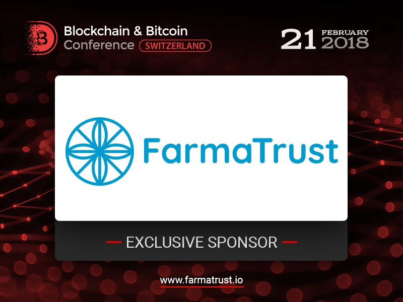 FarmaTrust, Exclusive Sponsor of Blockchain & Bitcoin Conference Switzerland, to solve counterfeit drugs issue