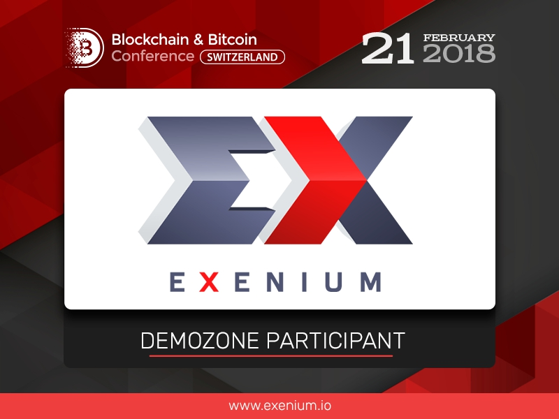First chatbot-like cryptocurrency exchange: exhibition area of Blockchain & Bitcoin Conference Switzerland to present Exenium