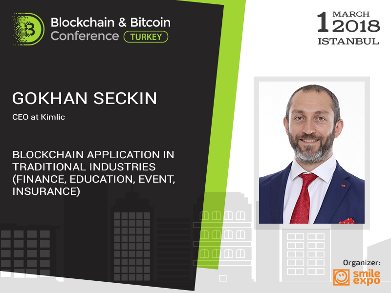 Founder of one of Turkey's first startups to talk about blockchain application