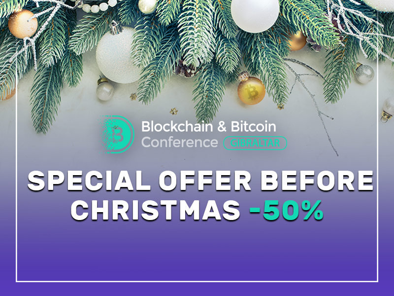 Four days only: 50% OFF on tickets to Blockchain & Bitcoin Conference Gibraltar