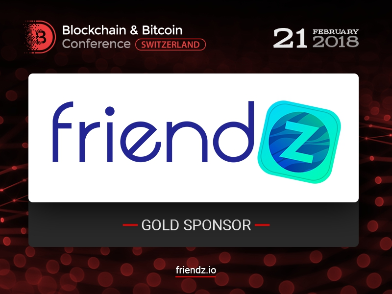 Friendz marketing service to be Gold Sponsor of Blockchain & Bitcoin Conference Switzerland