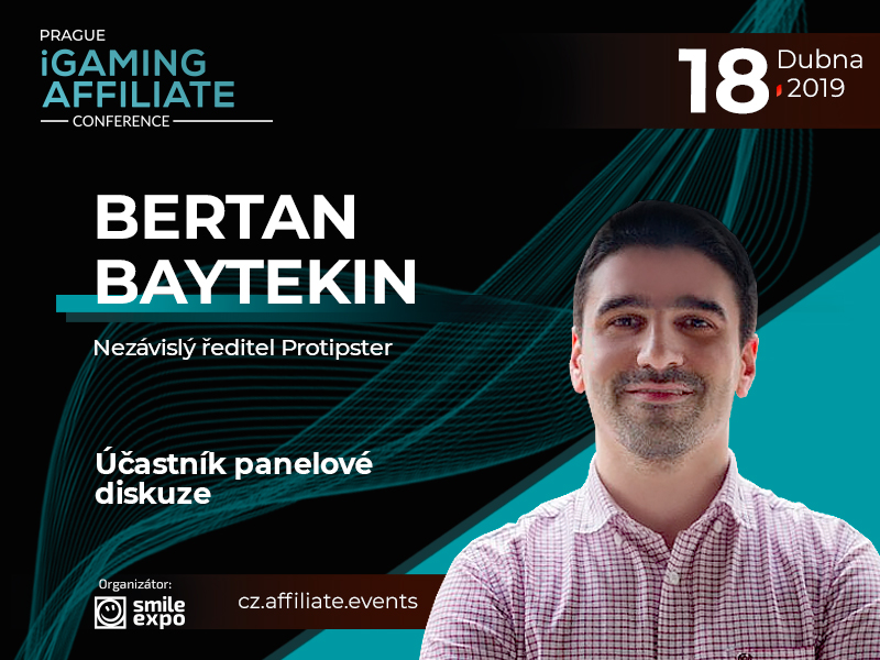 Generální ředitel Protipster Bertran Baytekin se stane řečníkem na Prague iGaming Affiliate Conference