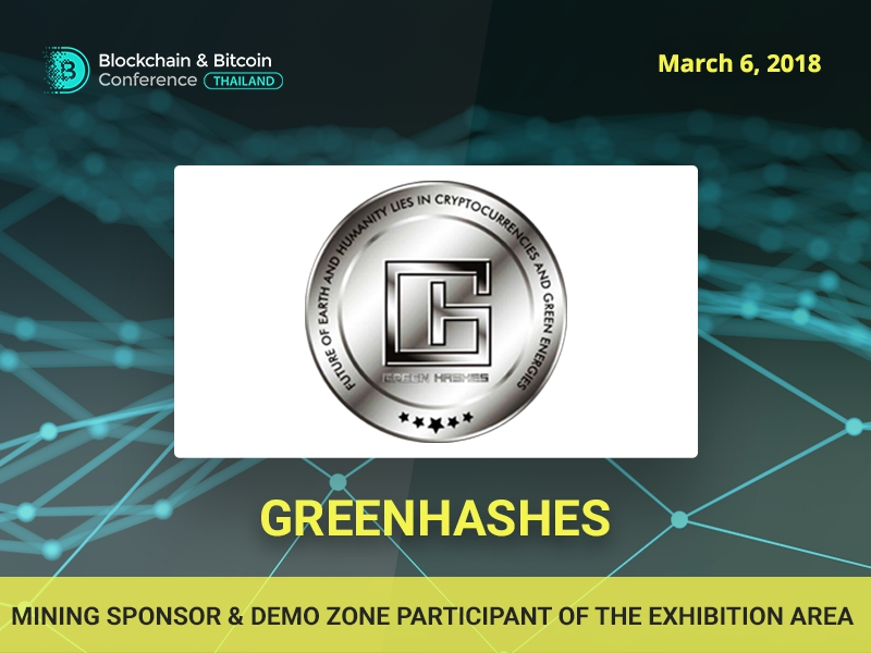 GreenHashes Startup: sponsor of Blockchain & Bitcoin Conference Thailand