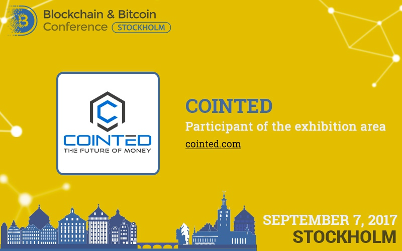 Guests of Blockchain & Bitcoin Conference Stockholm will see Cointed Bitcoin ATMs and a farm for ecofriendly mining