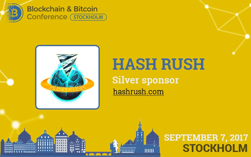 Hash Rush: first real cryptocurrency online game and silver sponsor of the conference