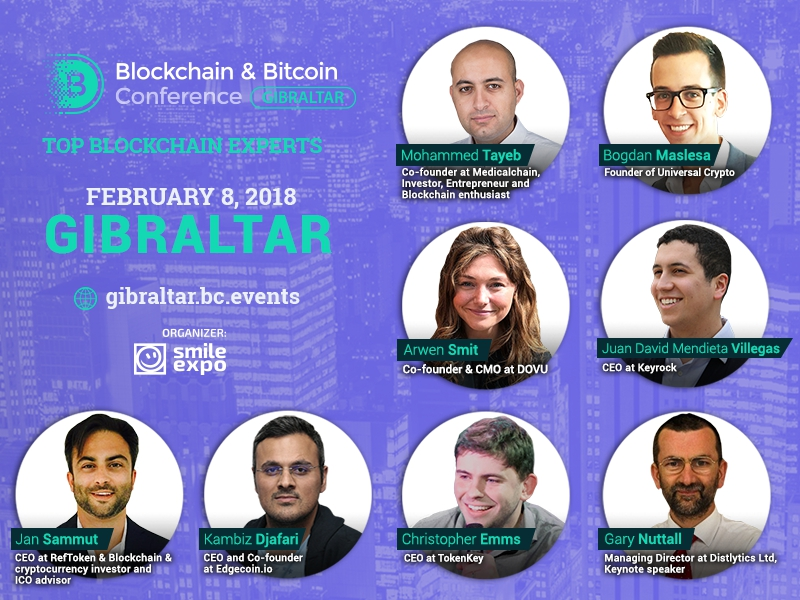 Headliners and key topics of Blockchain & Bitcoin Conference Gibraltar